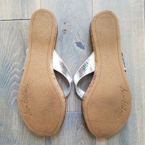 Sam Edelman Shoes - Sam Edelman Tanya Silver Cork Wedge Sandal